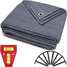 smartpeas Voortenttapijt - tapijt blauw/grijs van polyethyleen (HDPE) met roestvrijstalen oogjes robuust en wasbaar - met ...