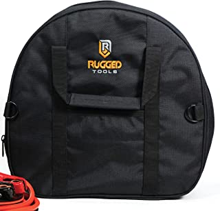 Rugged Tools Cable Bag - Jumper Cable Bag - Storage & Organizer for Cables, Cords, and Hoses