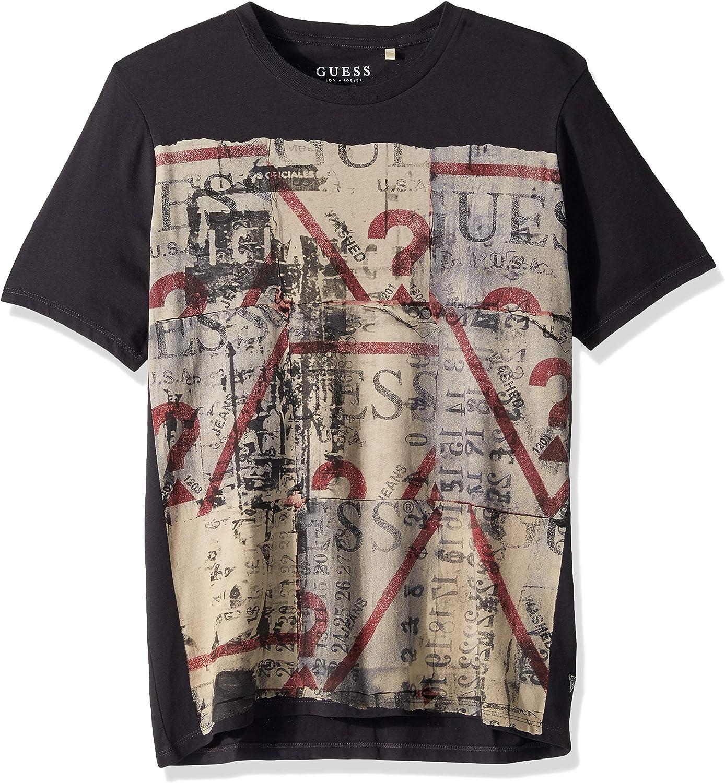9467b1cc5 GUESS Mens Short Sleeve Street Collage Crew Neck T-Shirt T-Shirt T-Shirt  T-Shirt 676115