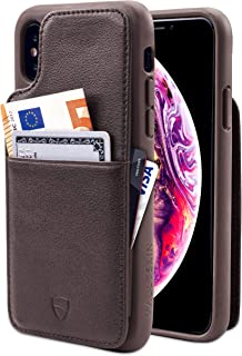 Vaultskin Eton Armour iPhone case with Leather Wallet iPhone XS Max Brown PHEAMIP6B