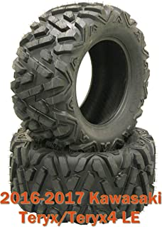(2) 27x9R14 ATV Radial Front Tire Set for 16-17 Kawasaki Teryx/Teryx4 LE