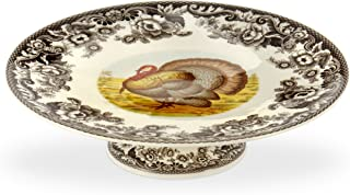 Spode Woodland Turkey Footed Cake Plate