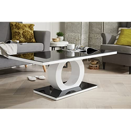 Black And White Gloss Side Table Amazon Co Uk