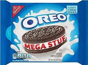 OREO Mega Stuf Chocolate Sandwich Cookies, Original Flavor, 1 Resealable 13.2 oz Pack