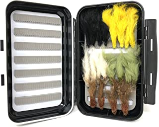 Feeder Creek Fly Fishing Flies - Zonker Streamer Assortment - 20 Wet Flies - 2 Size Assortment 6, 8 (2 of Each Size)