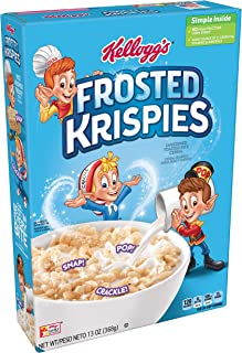 Kellogg's Frosted Krispies, Breakfast Cereal, Toasted Rice Cereal, Fat-Free, 13 oz Box
