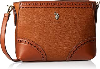 US Polo Womens Crossbody Bag, Tan - BIULM0585WVP521