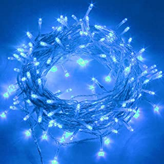 Twinkle Star 66FT 200 LED Indoor Fairy String Lights, Plug in String Light 8 Modes Waterproof for Outdoor Christmas Wedding Party Bedroom Decorations (Blue)