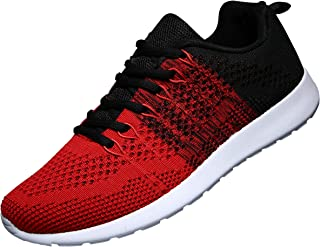 Men's Knit Breathable Casual Sneakers Lightweight Athletic Tennis Walking Running Shoes