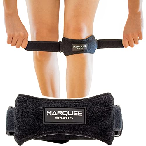64d00995a3 Marquee Sports Patella Knee Strap for Running, Basketball, and Hiking  Adjustable Patellar Tendon Pain