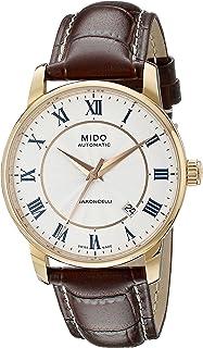 MIDO - Baroncelli M86002218 - Reloj para Hombres, Correa de Cuero Color marrón