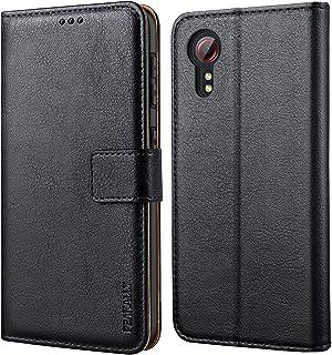 Peakally Coque pour Samsung Galaxy Xcover 5, Housse Etui à Rabat Premium en Cuir PU [Pochette de Portefeuille] [Fermeture ...