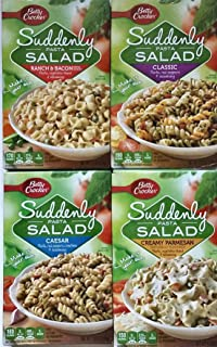Ranch & Bacon, Caesar, Creamy Parmesan, Classic - Suddenly Salad Variety Pack of 4