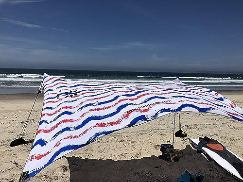 Neso Beach Tent with Sand Anchor - Tienda Carpa de Playa con Ancla de Arena, Canopy Portátil Sunshade - 7 'x 7' - Esq...