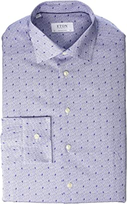 Contemporary Fit Micro Print Dress Shirt