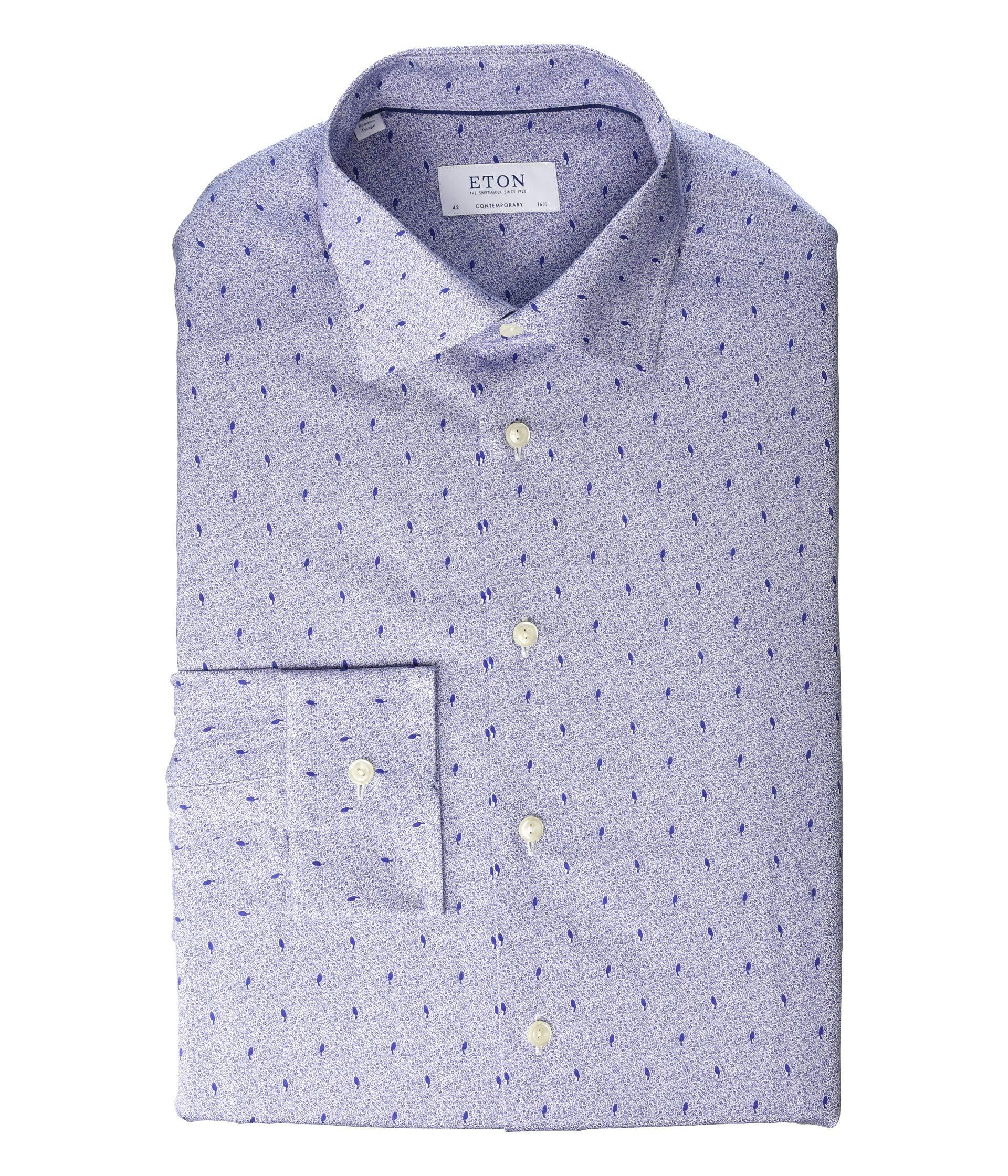 Eton Contemporary Fit Micro Print Dress Shirt At Luxuryppos