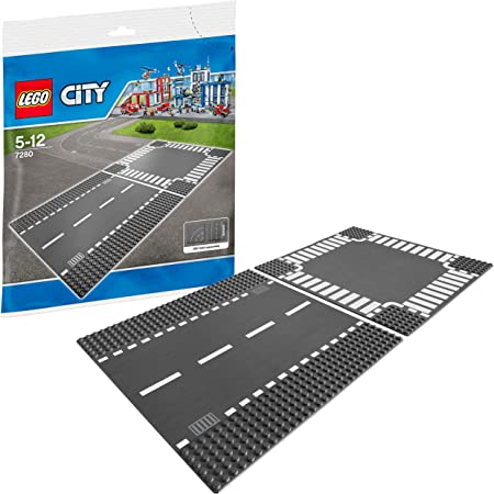 レゴ (LEGO) シティ ロードプレート 直線+交差点(2枚入り) 7280 [並行輸入品]