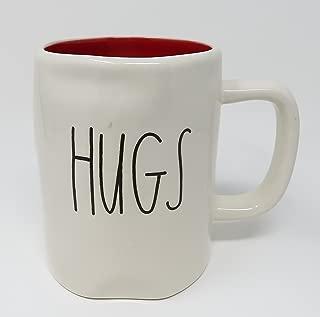 Rae Dunn by Magenta HUGS Ceramic LL Coffee Mug Red Interior