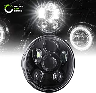 5.75 Round LED Headlight [Black Housing] [Projector] [3450 Lumens] for Harley Davidson Motorcycle