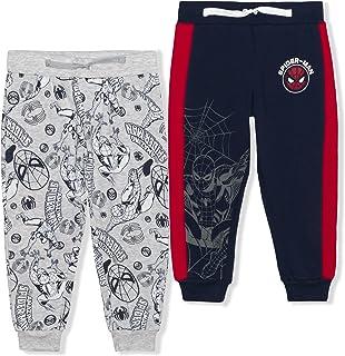 Marvel Spiderman 2 Pack Jogger Pants Set for Boys, Drawstring Waist Sweatpants