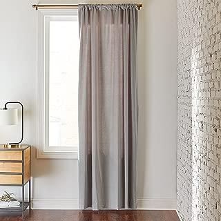 Rivet Room Darkening Modern Cotton Velvet Curtain, One Panel, 52