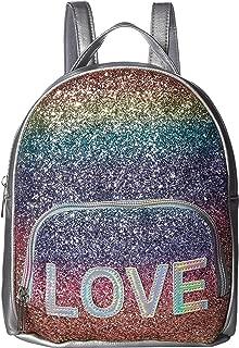 Womens Love Rainbow Glitter Dome Backpack