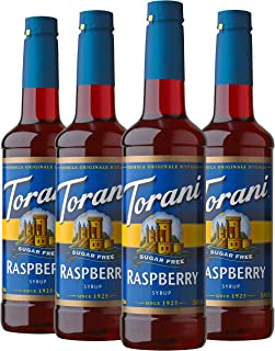 Torani Sugar Free Syrup, Raspberry, 25.4 Ounces (Pack of 4)
