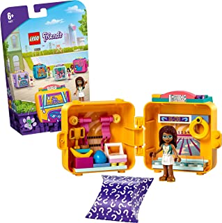 LEGO 41671 Friends Andrea's Swimming Cube Play Set with Mini Doll, Portable Collectible Travel Toy with Poodle Dog Figure