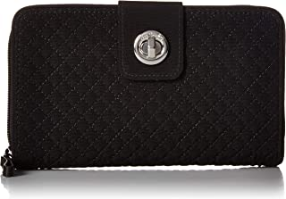 Women's Microfiber Turnlock Wallet with RFID Protection