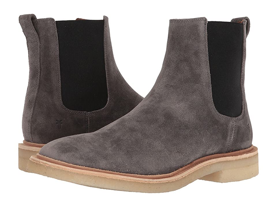 Frye Chris Crepe Chelsea (Grey Washed Waxed Suede) Men