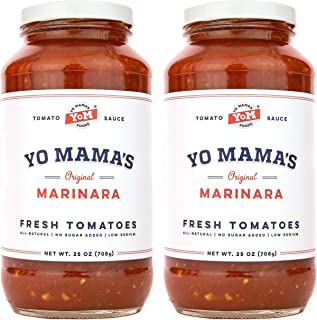 Yo Mama's Keto Friendly Marinara Pasta Sauce – Pack of (2)