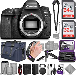Canon EOS 6D Mark II DSLR Camera Body - WiFi Enabled with Altura Photo Complete Accessory and Travel Bundle