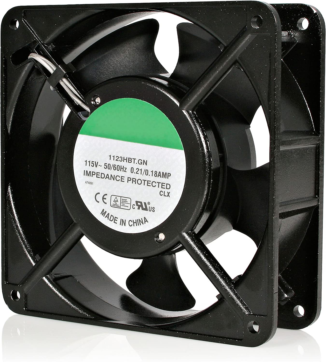 StarTech.com 120mm Axial Rack Muffin Fan for Server Cabinet - 115V - AC Cooling - Low Noise & Quiet PC Computer Case Fan (ACFANKIT12),Black