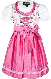 MADDOX Alpenfeeling Kinderdirndl Flower Rose pink 3-TLG. Set