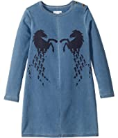 Chloe Kids - Denim Dress w/ Large Horses (Little Kids/Big Kids)