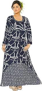 VOXVIDHAM Women's Cotton Layered Kurta