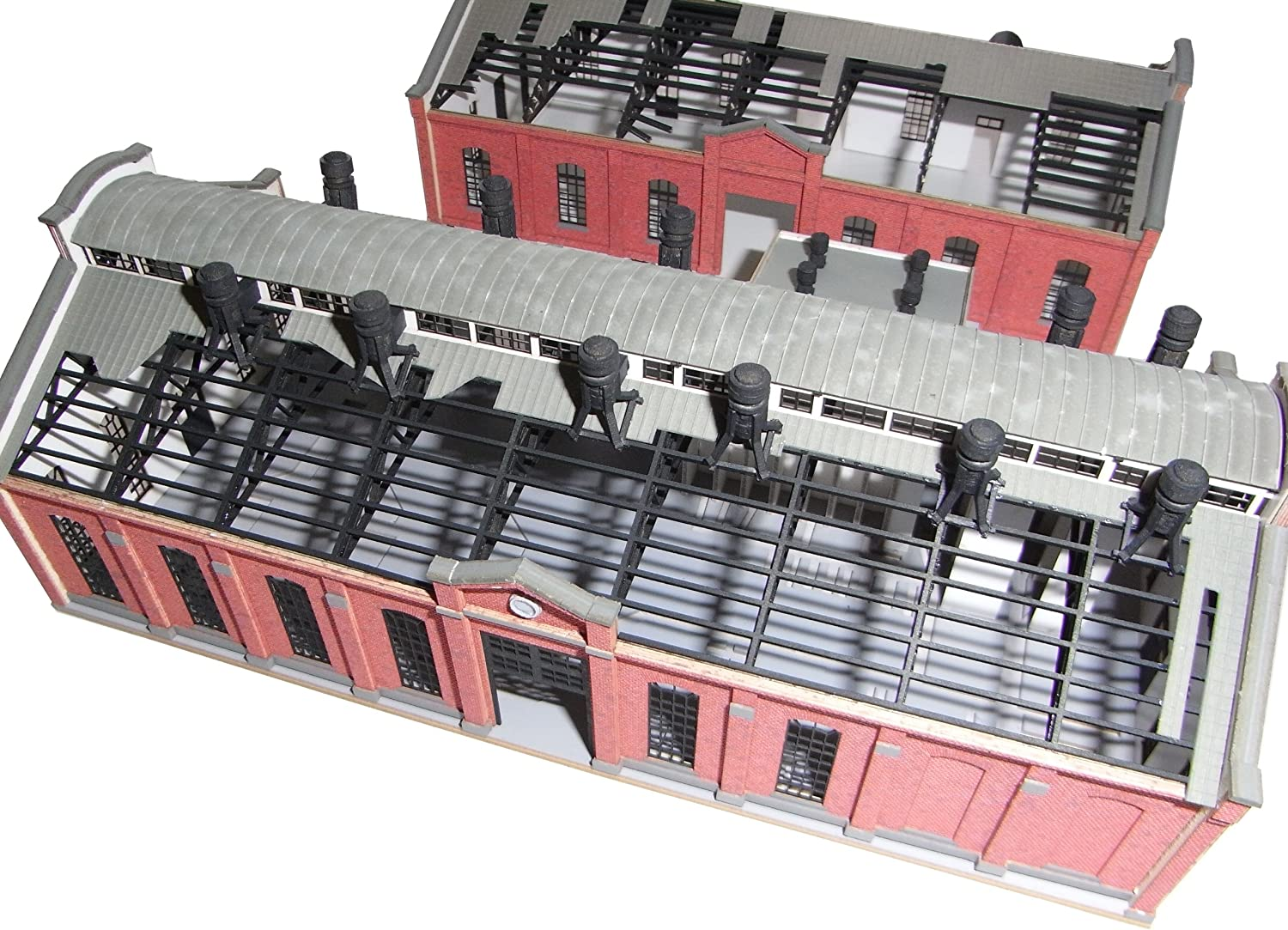 N gauge Maruyama substation (paper structure painted) (japan import)