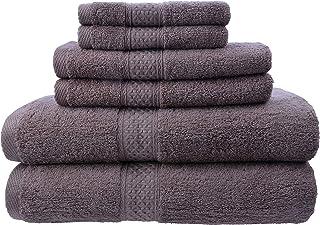 Bath Towel Set 100% Natural Cotton 6pcs Premium Quality Towel Set, Soft and Fast Drying Bath Towel Set 450GSM