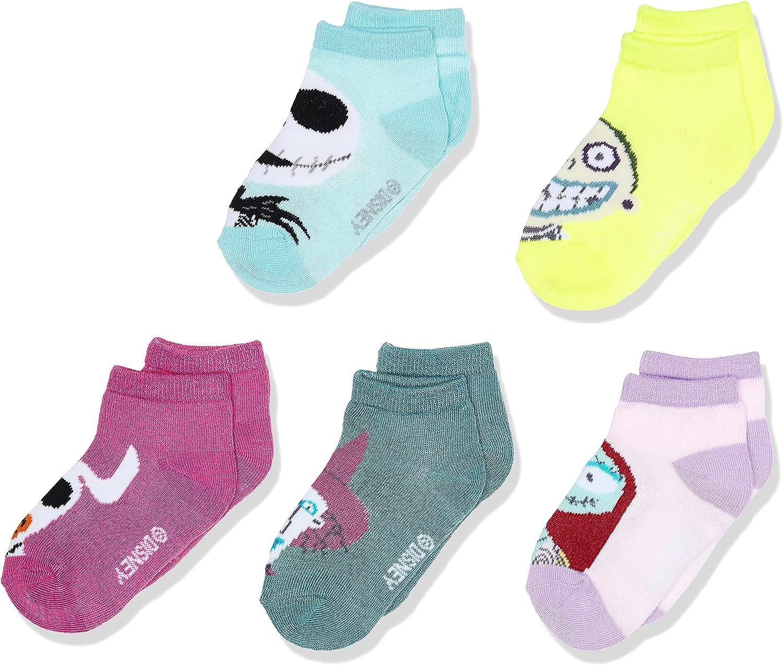 Disney unisex-baby Disney Nightmare Before Christmas 5 Pack Shorty Socks