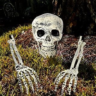 Blisstime Halloween Skeleton Decoration Props, 3 Pieces Realistic Ground Breaker Skeleton for Halloween Graveyard Lawn Decor