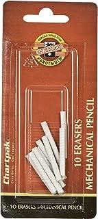 Koh-I-Noor Mephisto Mechanical Pencil Eraser Refills, White, 10 Per Pack (5035EBC.57)