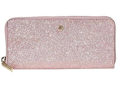 Kate Spade New York Burgess Court Slim Continental Wallet (Rose Gold) Wallet Handbags