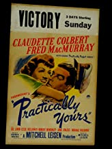 PRACTICALYY YOURS-1944-11X22 WINDOW CARD-CLAUDETTE COLBERT-GIL LAMB-COMEDY VG