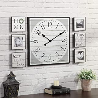 FirsTime & Co. Shiplap Gallery Set Wall Clock, 20