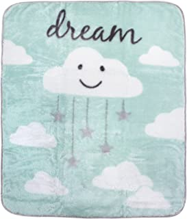 Hudson Baby Unisex Baby Plush High Pile Blanket, Clouds, One Size