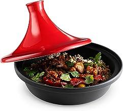 Kook, tapa de cerámica, base de hierro fundido, color rojo