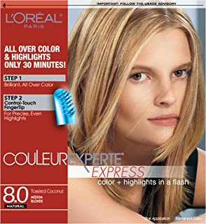 L'Oréal Paris Couleur Experte 2-Step Home Hair Color & Highlights Kit, Toasted Coconut