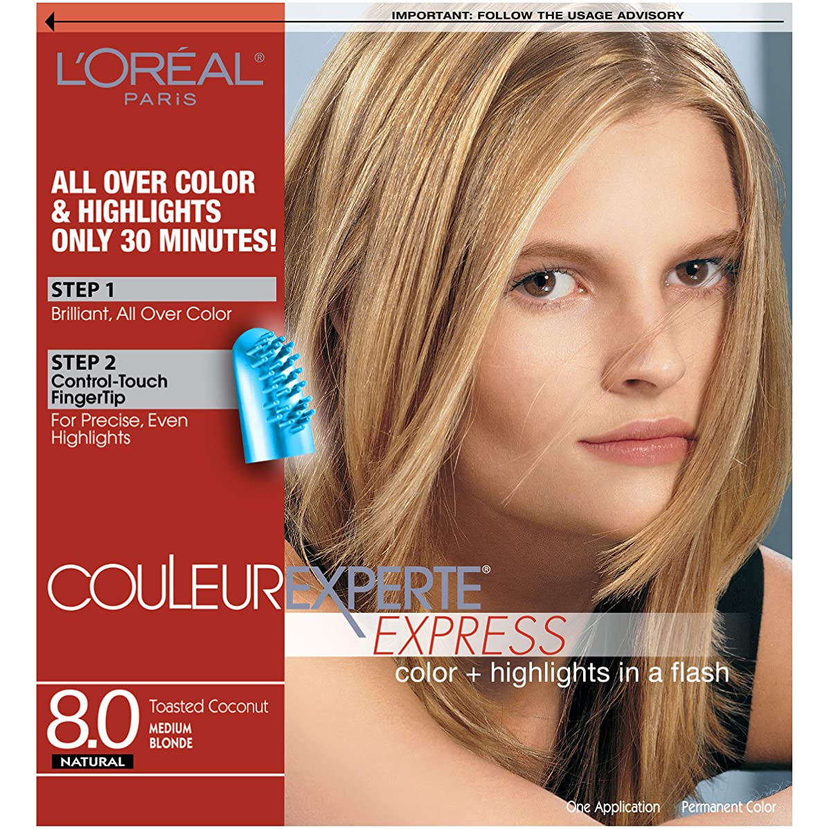L'Oreal Paris Couleur Experte Color + Highlights in a Flash, Medium Blonde - Toasted Coconut
