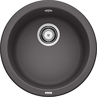 Blanco Rondo 厨房水槽 圆形水槽 由Silgranite PuraDur制成 一件 岩灰色 518910