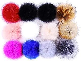 Pom Poms for Hats Bulk Pom Poms Faux Fur Pom Pom Balls for Hats Pompoms for Hats